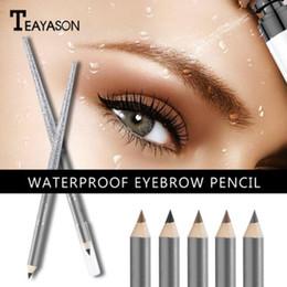 Pencil Cosmetics Australia - Pigment 5Color Eyebrow Pencil Waterproof Long-lasting Natural Eye Brow Pencil Tattoo Tint Eyebrow Pen Beauty Makeup Cosmetics