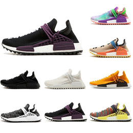 $enCountryForm.capitalKeyWord Australia - HOT Human Race Core Black nerd yellow Cream Equality holi nobel ink Orange Pale nude Red white Men Women outdoor Runner Sports Sneakers