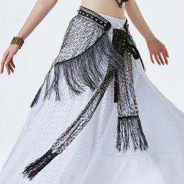 $enCountryForm.capitalKeyWord Australia - New style Tribal Belly dance Clothes Costume Fringe Wrap Belts Hip Scarf Platinum shining Belly Dancing Belt with Rings