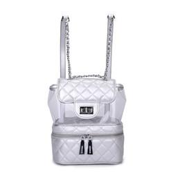 Shoulder Straps Backpack NZ - Johnature 2019 Genuine Leather Softback Zipper Arcuate Shoulder Strap Flap Pocket Casual Soft Handle Jelly Bag Women Backpack