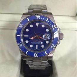 Luxury Men Watch 18k Australia - Hot sale new watch men sapphire ceramics bezel blue luxury automatic silver 18K Stainless original sapphire mens watches.