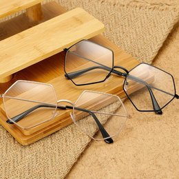 flat mirrors NZ - New Fashionversion Sunglasses of the retro polygon flat mirror new literary Harajuku trend glasses frame