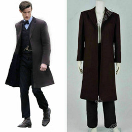 doctor cosplay Australia - Who is Doctor The Doctor Who Dr.11th Matt Smith Trench suit Cosplay costume