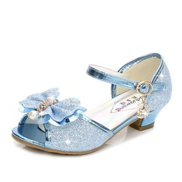 37cfee426b7e Girls Sandals Kids Shoes For Girls Dress Shoes Little High Heel Glitter  Summer Princess Party Wedding Sandal Children Shoe