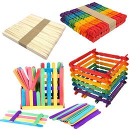 Diy Boys Toys UK - 50pcs DIY Wooden Stick Building Blocks Toys Kids Education Construction Toy Gift Fashion New Stick Building Blocks