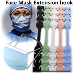 venda por atacado Terceiro engrenagem ajustável Anti-Slip Máscara Orelha Máscaras Grips Extensão gancho cara Buckle Titular Máscara Facial ajustável gancho Ear Buckle