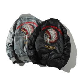 $enCountryForm.capitalKeyWord Australia - New MA1 men jacket Embroidered Outwear Pilot flight Slim fit patch jackets High Street Youth Couple coat print Motorcycle jacket
