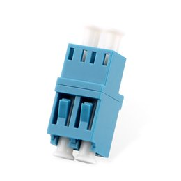 lc adapter 2019 - 50PCS Duplex Fiber optic Adapter LC couplerLC UPC Fiber flange SC connector discount lc adapter