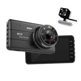 "Drive Camera Australia - 4"" car DVR camera digital video recorder driving data camcorder 1080P full HD 2Ch dual lens front 170° rear 120° view angle"