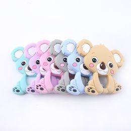 Koala Plastic Australia - Let's Make Baby Silicone Koala 5pc Food Grade Teether Pram Toy Teething Accessories Handmade Diy Nursing Necklace Pendant J190519