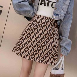 Ls Springs Australia - Sexy Women Skirts Brand Spring Casual Fashion Letter Print Soft Empire Invisible Zipper A-Line Skirts 2019 New Size S-L