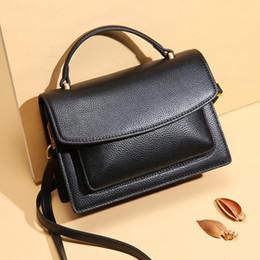 Ladies Handbags For Office Australia - 100% Genuine Leather Handbag For Women Designer Brand Casual Style Office Lady Crossbody Bags Travel Party Purses Sac Main Femme