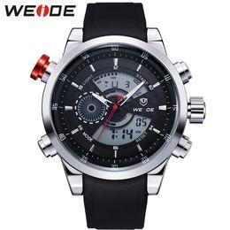 Weide Watch Men Military Australia - Weide Military Men's Sports Watch Stopwatch Black Strap Alarm Male Man Wristwatches Waterproof Quartz Clock Relogio Masculino Y19052103