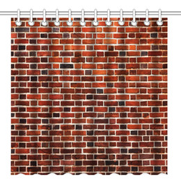 $enCountryForm.capitalKeyWord UK - Vintage Red Brick Wall, Waterproof Polyester Fabric Decorative Bath Curtains