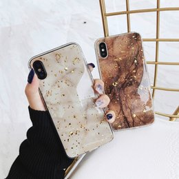 iphone 6s black gold Australia - Phone Case Luxury Gold Foil Bling Marble For iPhone X XS Max XR Soft TPU Cover For iPhone 7 8 6 6s Plus Glitter Case Coque Funda
