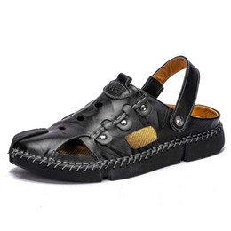 $enCountryForm.capitalKeyWord NZ - 2019 Genuine leather casual men sandals Quality Design Outdoor Classic Rome beach adult men summer Sneakers shoes size 38-46