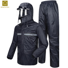 man raincoat motorcycle NZ - Motorcycle Rain Suit Fishing Women Bicycle Bike Raincoat Jacket Men Chaqueta Mujer Outdoor Hiking Rain Coat Waterproof WKR114