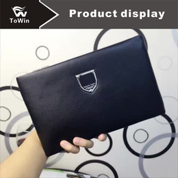 Free Style Wallets NZ - Brand Man Handbag Fashion Style Cowhide Wallet High Quality Genuine Leather Man Clutch Bag Cards Gentleman Storage Coin Purses Free Shipping