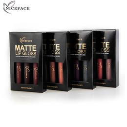$enCountryForm.capitalKeyWord Australia - Quality Hot 3 Pcs set Brand Makeup Matte Lipstick Kit Long Lasting Lip Gloss Set Waterproof Women Lips Make up Beauty Cosmetics 2019 New