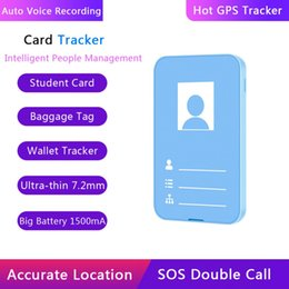 track locator Australia - Smart Anti-lost Tracking Card GPS Tracker Item Finder Locator For Wallet Lage Support Remote Control And 2-way Audio