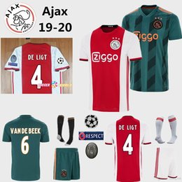 b2cea225601 19-20 ajax FC home away soccer jerseys 2019 #10 TADIC #21 DE JONG #4 DE  LIGT #22 ZIYEC football uniform Kids football shirt kit uniform