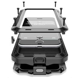 Iphone 5c Aluminum Cases Australia - Luxury Doom Armor Life Water Resistant Shock Proof Silicon Aluminum Metal Case for IPhone 7 8 X 6S 6 S Plus 5S 5 5SE 5C 4S Coque