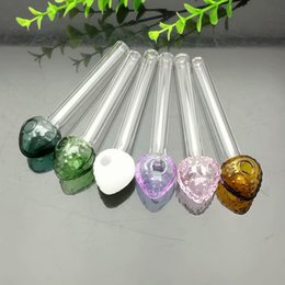 Glass Strawberries Australia - Colored Strawberry Head Glass Direct Burning Pot Great Pyrex Glass Oil Burner Pipe Thick oil rigs glass water pipe