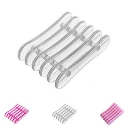 crystal makeup holders 2019 - 1PC Plastic New Nail Art Makeup Brush Pen Holder Stand Rest Manicure Holding Tools Mini Crystal 5 Lattice Pen Holder For