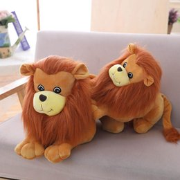 toy jungle dolls Australia - Plush Lion Seat Sofa Cushion Popular Stuffed Doll Jungle Series Animal Toys for Kids Christmas Gift