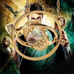 $enCountryForm.capitalKeyWord Australia - Harry Time Turner Potter Necklace Hourglass Vintage Pendant Hermione Granger Gold Silver Necklace Time Converter Sand Glass Pendants