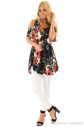Off Shoulder Blouse Cotton Australia - New Arrival Womens Tops Summer Shirt Off Shoulder Floral Print Bohemian Blouses Cotton Cloth Plus Size