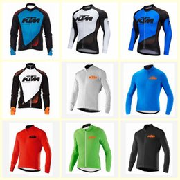 $enCountryForm.capitalKeyWord NZ - KTM team Cycling long Sleeves jersey bicycle tops Breathable clothes sport mountain bike racing Riding clothing U71834