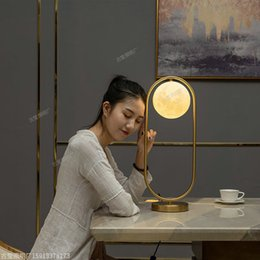 $enCountryForm.capitalKeyWord NZ - JESS Nordic Art Deco Golden Body Table Lamp Metal Base Plate Modern Minimalist Frosted Glass Led Desk Lamp For Study Bed Room EMS