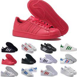 Hologram Shoes NZ - 2019 Originals Superstar White Hologram Iridescent Junior Superstars 80s Pride Sneakers Super Star Women Men Sport Casual Shoes E5896