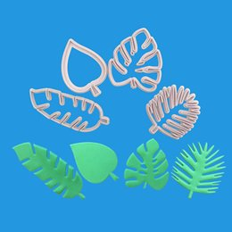 $enCountryForm.capitalKeyWord Australia - 4Pcs set Tropical Leaves Fondant Cookie Cutters Cake Plastic Embossed Candy Biscuits Molds Cookie Mould Sugarcraft Tools