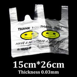 $enCountryForm.capitalKeyWord Canada - 15x26cm smiley face vest PE plastic packaging tote market shopping bag