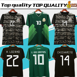 543dc35e708bd 2019 Mexico GOLD CUP Black KIT Soccer Jerseys 2018 World Cup Home Away  CHICHARITO Camisetas de futbol H.LOZANO G.DOS SANTOS Shirts