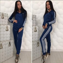 Wholesale Sports suit two piece female autumn and winter new Korean version of the large size women s long sleeved sweater casual sportswear size