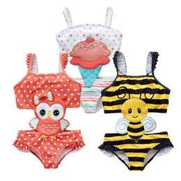 Swimwear Infant Australia - 2019 Girls Swimwear Cute Kids Swimsuit Infant 12M-8T Kid Baby Girls Bikini Ruffles Swimming Bathing SUit One Pieces Bath Beach Swim Wear 20
