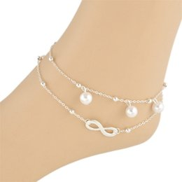 Dhl sanDals online shopping - Free DHL Newest Summer Ankle Anklet Rope Barefoot Sandal Beach High Quality Double Chain Fashion Feet Chain Anklets Bracelet D895S Y