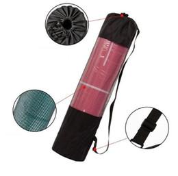 Black Carrier Bags Australia - portable 200pcs adjustable nylon yoga bag 183cm*66cm yoga mat bags carrier mesh center yoga backpack Black Color DHL Fedex Free Shipping
