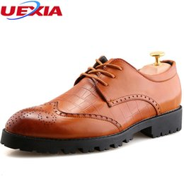 Party Shoes For Men Australia - UEXIA Fashion Carved Brogue Pattern Men Pointed Toe Dress Luxury Oxford Shoes For Men Zapatos Formal Business Work Party Wedding