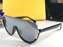729c1cbbe7 designer sunglasses pearls 2019 - New fashion designer women 0296 sunglasses  square half frame with luxury