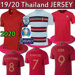 Uniform cUp online shopping - Portugal RONALDO JOÃO FÉLIX EUROPEAN CUP Men EDER QUARESMA Maillot De Futol Shirt Uniform Thailand Soccer Jerseys
