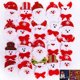 $enCountryForm.capitalKeyWord NZ - Led Christmas Brooch Badge Decorations For Santa Claus Snowman Deer Bear Glow Flashing Brooch Plush Toys Gift HH7-1727