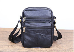 mens day travel bag NZ - Brand New Mens genuine leather shoulder messenger bag Vintage Small man travel business cross body bags male boys organizer Phone bags
