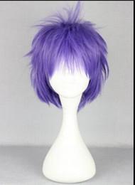 $enCountryForm.capitalKeyWord Australia - WIG 1109+++ Great Synthetic Hair Heat Resistant 30cm Short Blue Purple Anime Cosplay Wig