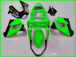 Kawasaki Zx9r 1998 Green Fairing Australia - High quality ABS fairings for Kawasaki Ninja ZX9R 98 99 green black fairing kit ZX9R 1998 1999 YW43