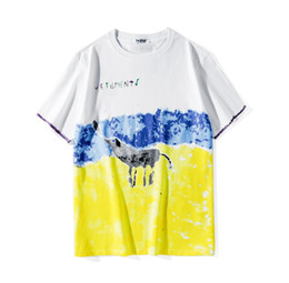 2f627b14 2019 summer new arrival mens Graffiti letter print t shirt brand Mens  fashion elephant print T shirts top mens Designer Tops Cloth
