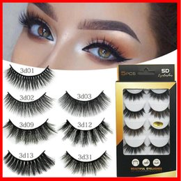 $enCountryForm.capitalKeyWord Australia - 3D Fiber False Eyelashes INS 5 Pairs Fashion Long Black boxes Eyelashes 32 Models for Different Occasion Handmade 2020 Newest Women's Makeup